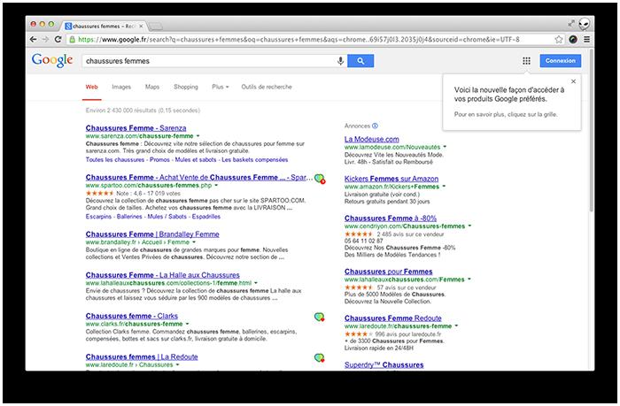 Extension Shopfairly - Google notifications
