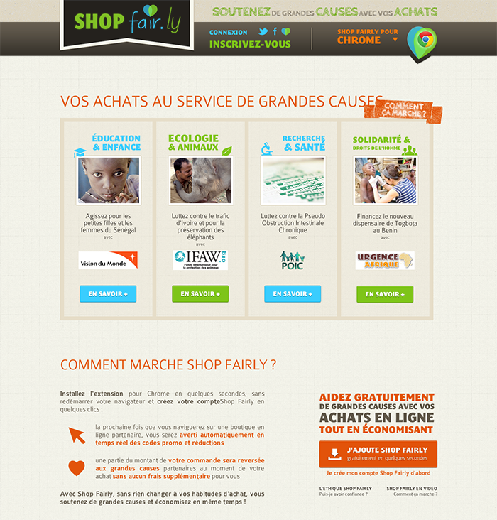 Site Shop Fairly - Association partenaires