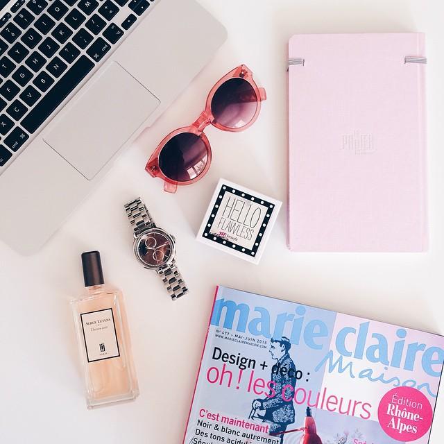 Pink mood ! / Montre Fossil / Carnet Le Papier…
