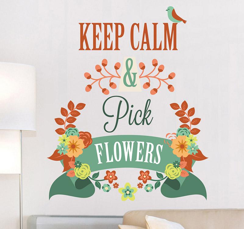 autocollant-mural-keep-calm-pick-flowers-5592