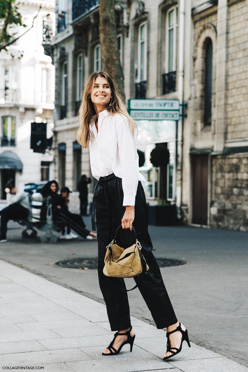 PFW-Paris_Fashion_Week-Spring_Summer_2016-Street_Style-Say_Cheese-Black_and_White-Loewe_Bag--790x1185