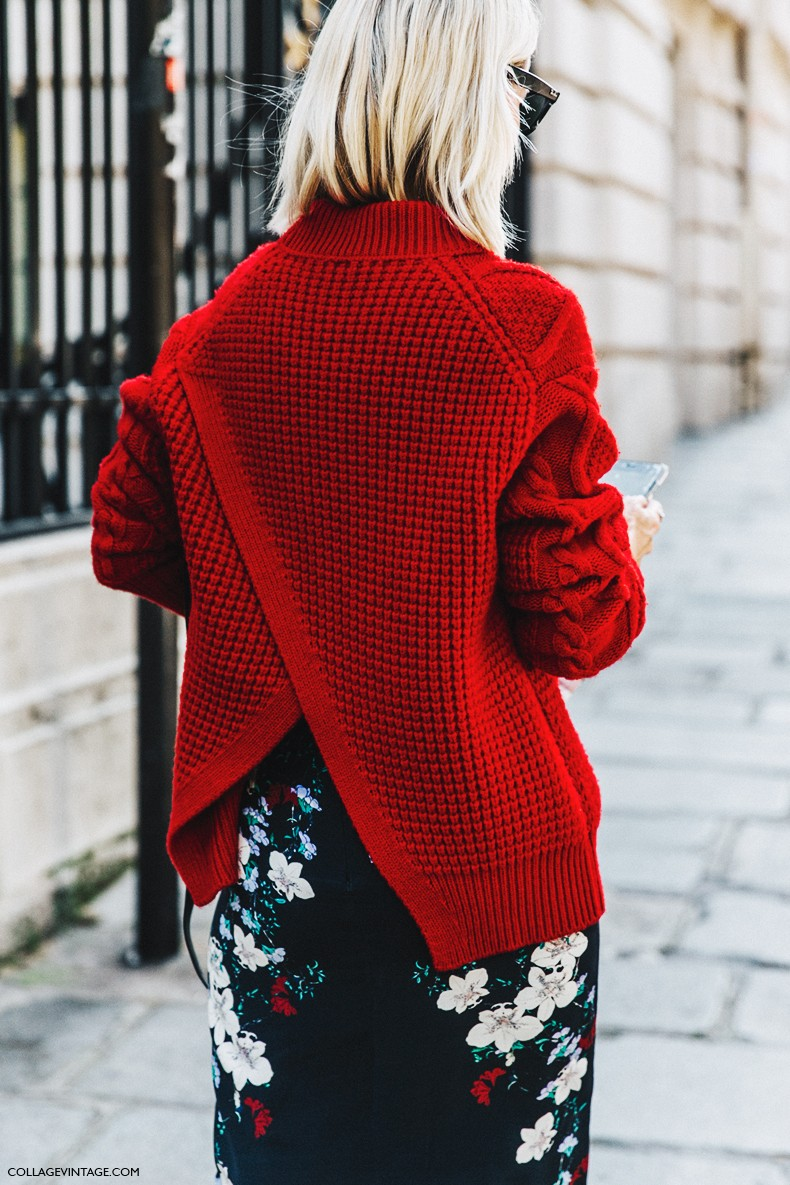 PFW-Paris_Fashion_Week-Spring_Summer_2016-Street_Style-Say_Cheese-Holly_Rogers-Red_Sweater-Pencil_Skirt-1-790x1185