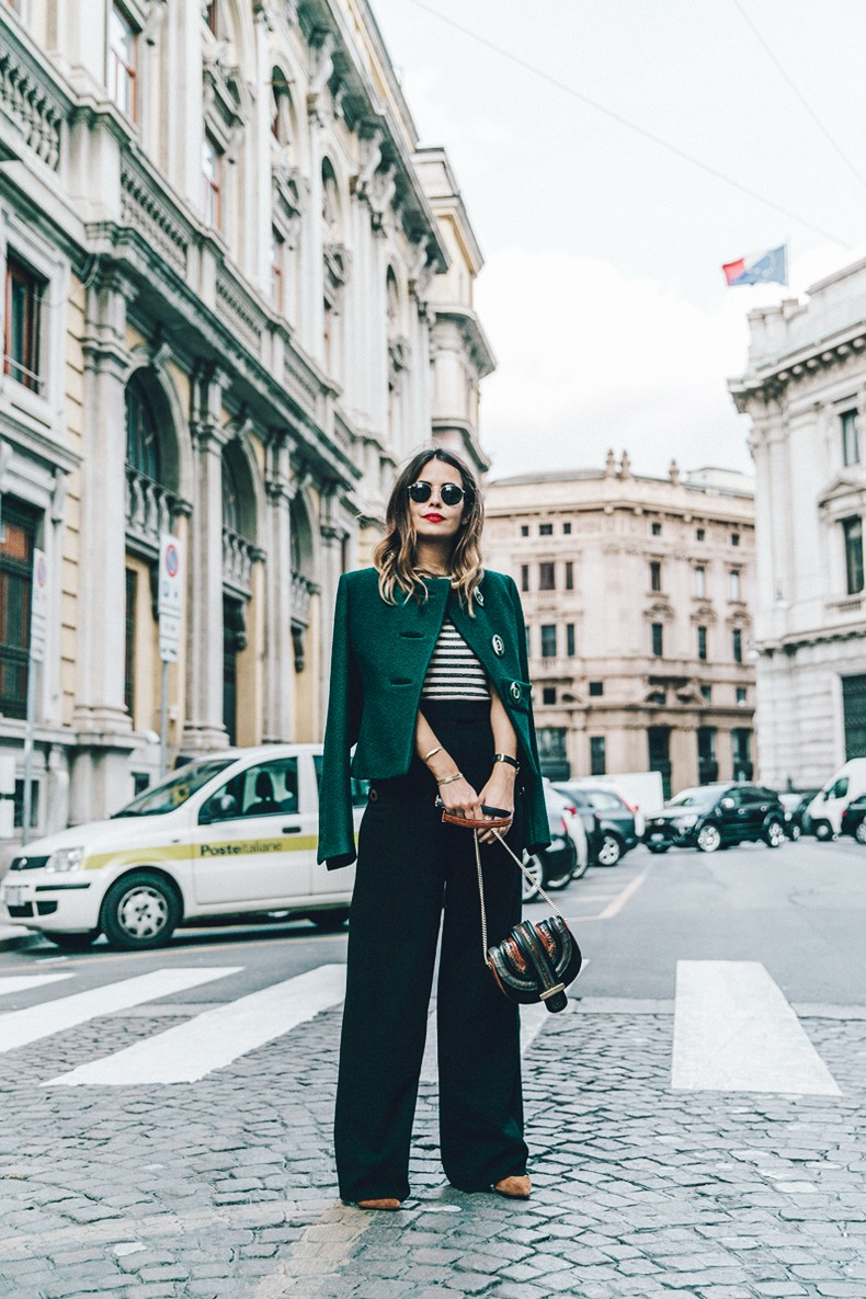 Salvatore_Ferragamo-Striped_Top-GReen_Jacket-MFW-Milan_Fashion_Week-Outfit-Street_Style-Collage_Vintage-19-790x1185