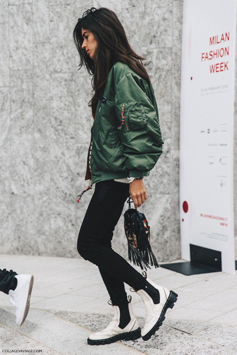 Milan_Fashion_Week_Fall_16-MFW-Street_Style-Collage_Vintage-Bomber-Chiara_Totire-Balenciaga-Boots-