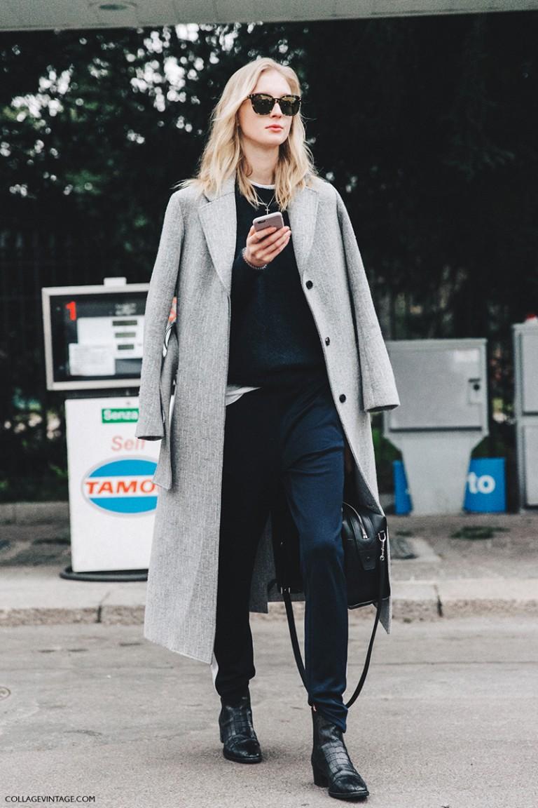 Milan_Fashion_Week_Fall_16-MFW-Street_Style-Collage_Vintage-Grey_Coat-Blue-Model-Tods-