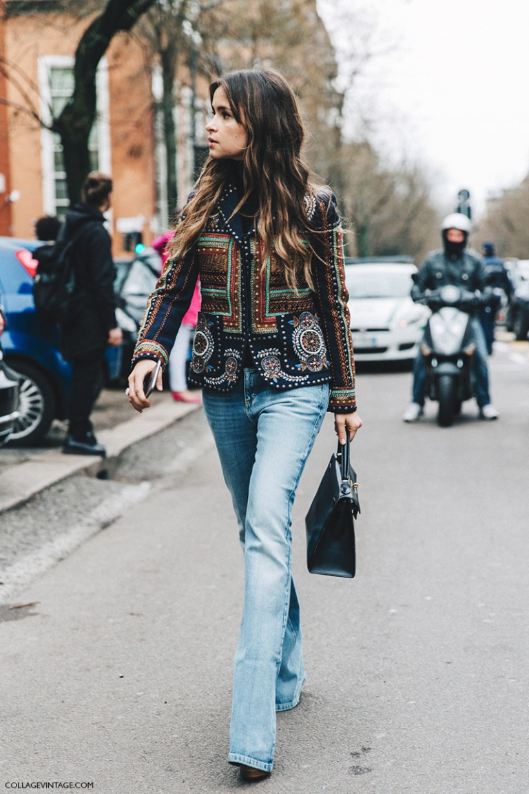 Milan_Fashion_Week_Fall_16-MFW-Street_Style-Collage_Vintage-Miroslava_Duma-Hermes_Bag-Embroidered_Jacket-Flared_Jeans-1
