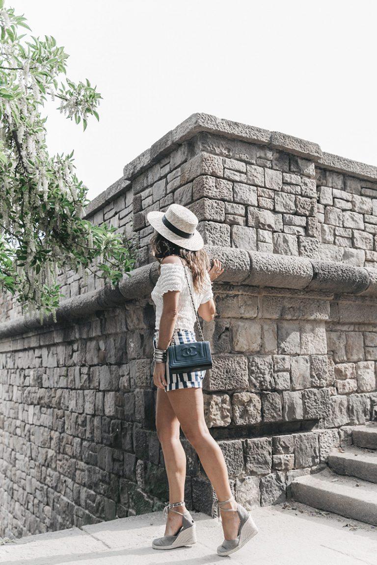 Primavera_Sound-HM-Stripped_Shorts-Canotier-Hat-Espadrilles-Outfit-Summer-Collage_Vintage-31-1600x2400